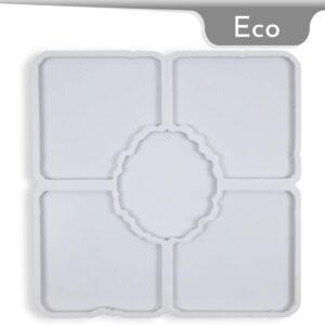 Coaster Square Geode Silicone Mold