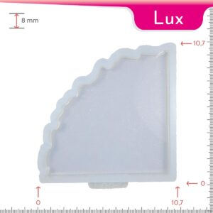 Mold-it Lux Coaster Single Geode Silicone Mold